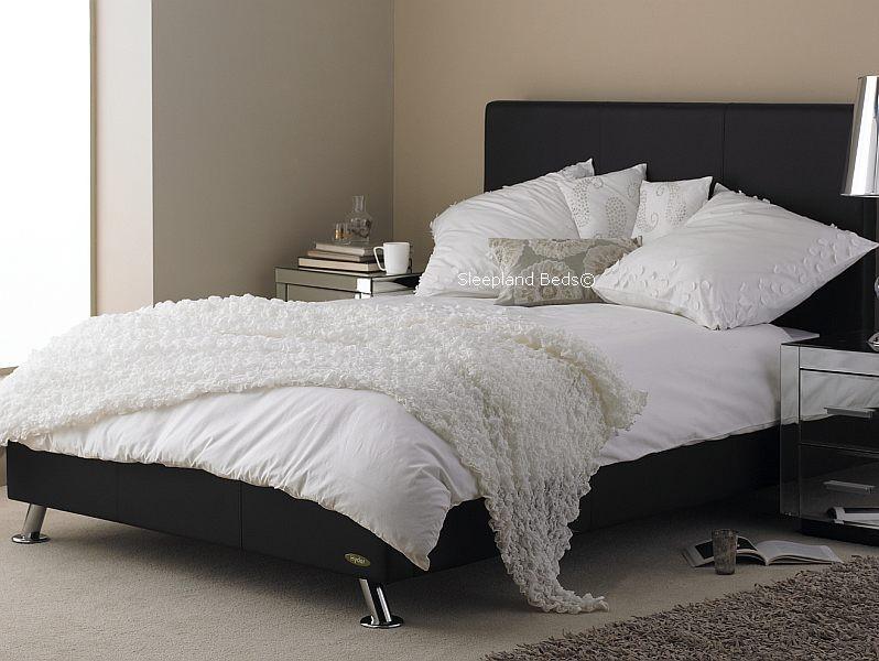 Hyder Milan Black Leather Bed Frame