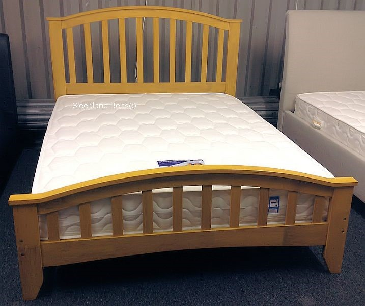 Knightsbridge Solid Wooden Bed Frame Maple Double
