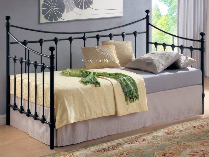 Black Metal Single Daybed Ornate Black Day Beds