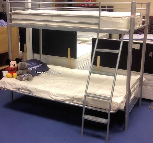 Futon Bunk Beds By Sleepland Beds Metal Bunk Bed With Double Futon