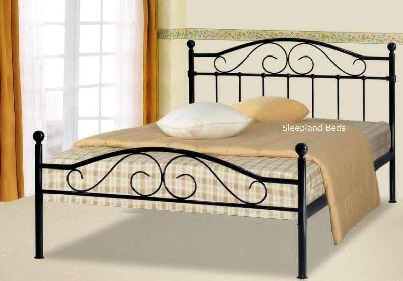 black sussex metal bed frame sussex bed frame - Black Metal Bed Frame