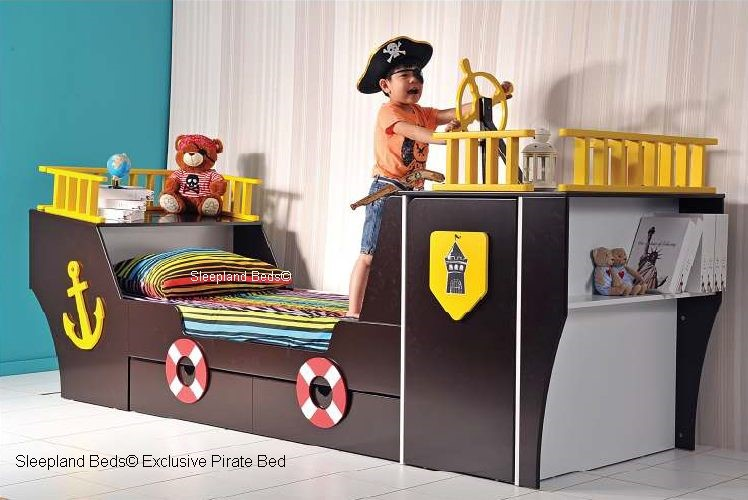 Pirate Boat Bed Wardrobe Childrens Ship