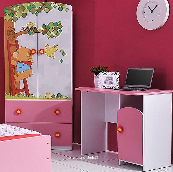 ... Premium Childrens Bear Theme Bed, Wardrobe Desk Kids Teddy ...