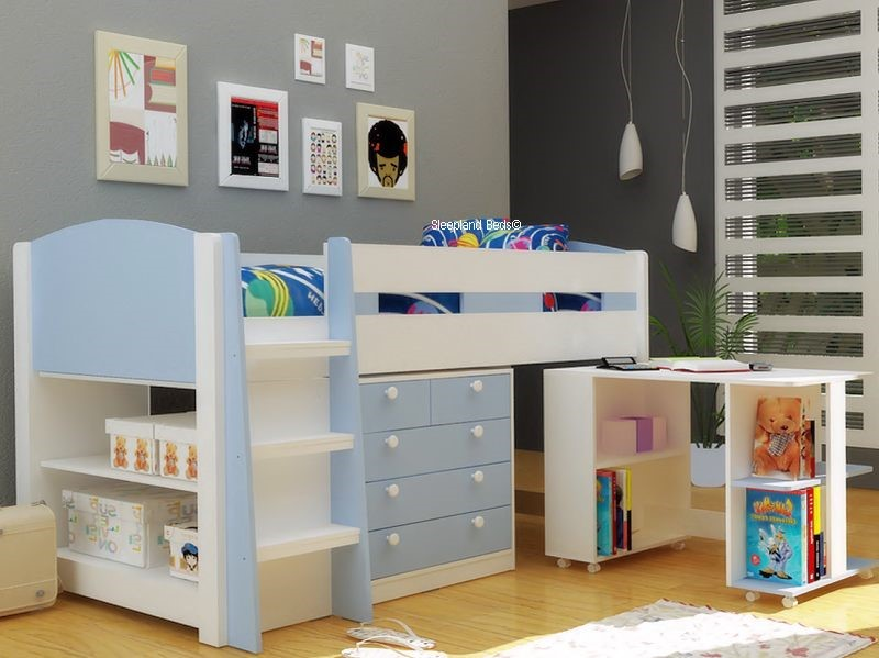 Kids Beds With Storage And Desk