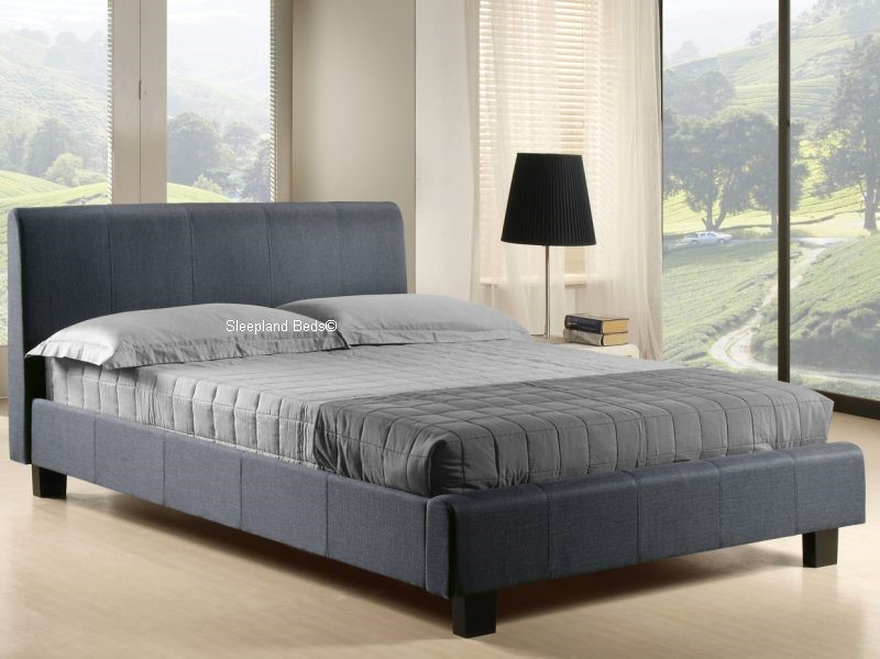 Exceptionnel Grey Fabric Double Bed Frame ...