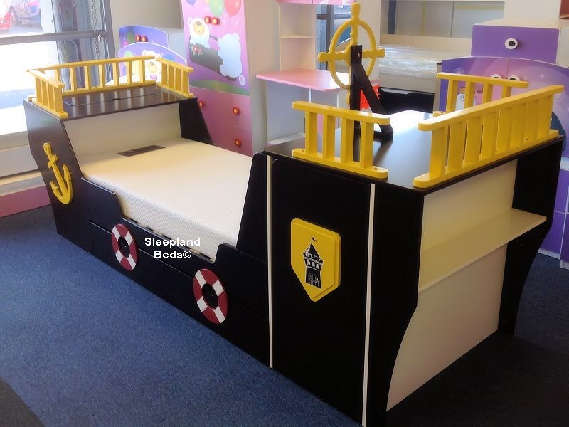 ... Pirate Ship Childrens Bed With Storage