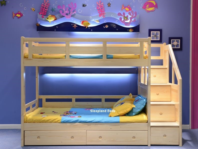 Luxury Solid Pine Bunk Bed Sleepland Beds