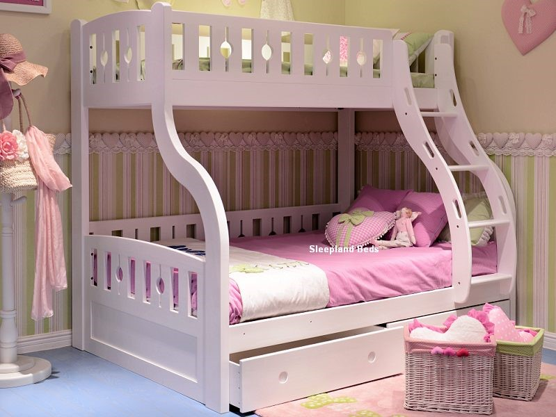 White Wood Bunk Beds White