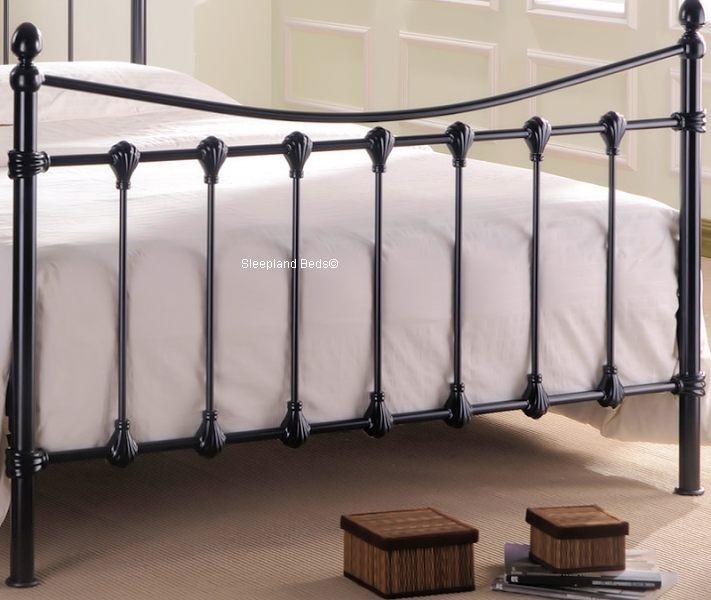 florida black metal double bed frame florida black metal bed with shells