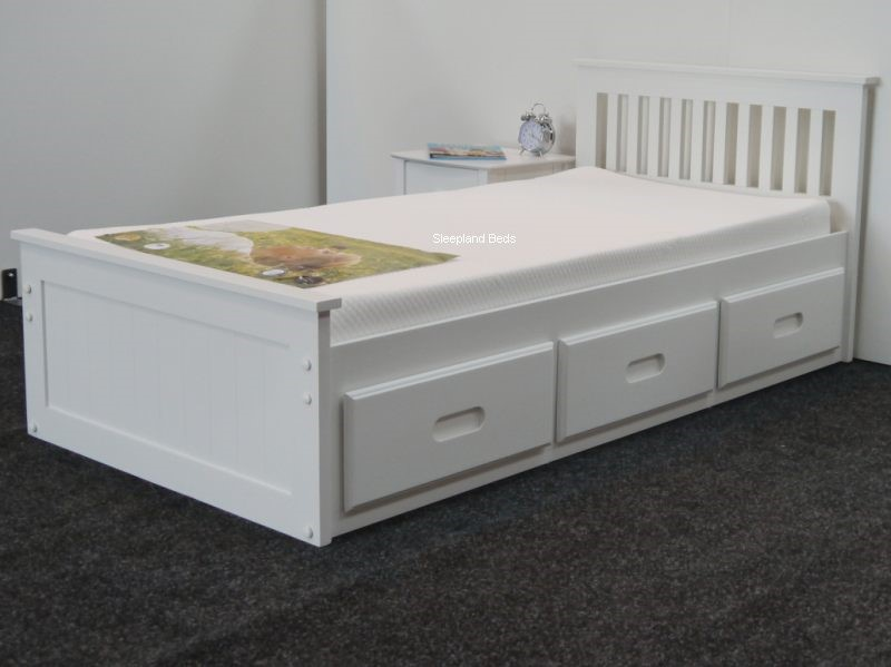 Single White Storage Beds ...