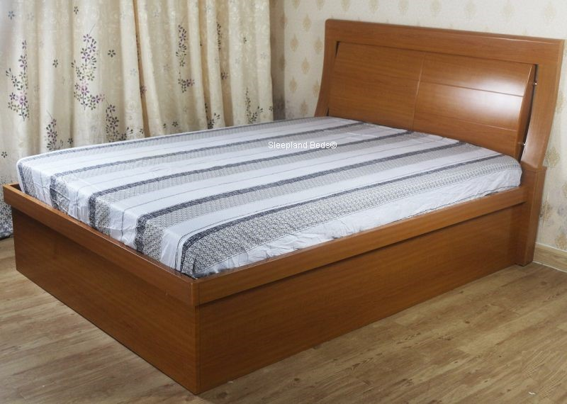 Wooden Ottoman Storage Bed 4ft 6 Double Meridian Bed Frame