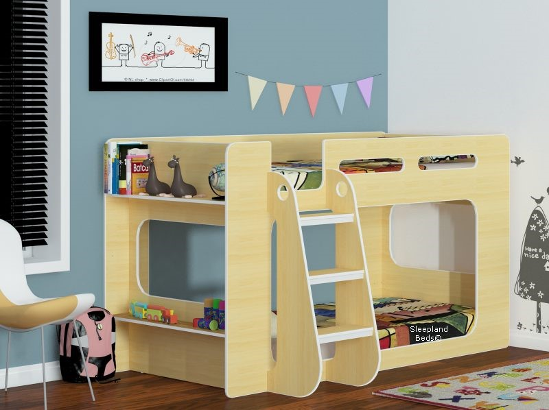 Shorty Bunk Beds Sleepland Shorty Bunk Bed In Beech ...