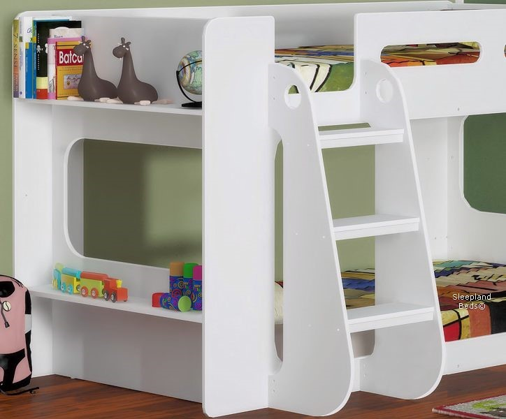White Shortie Bunk Bed Short With Shelves