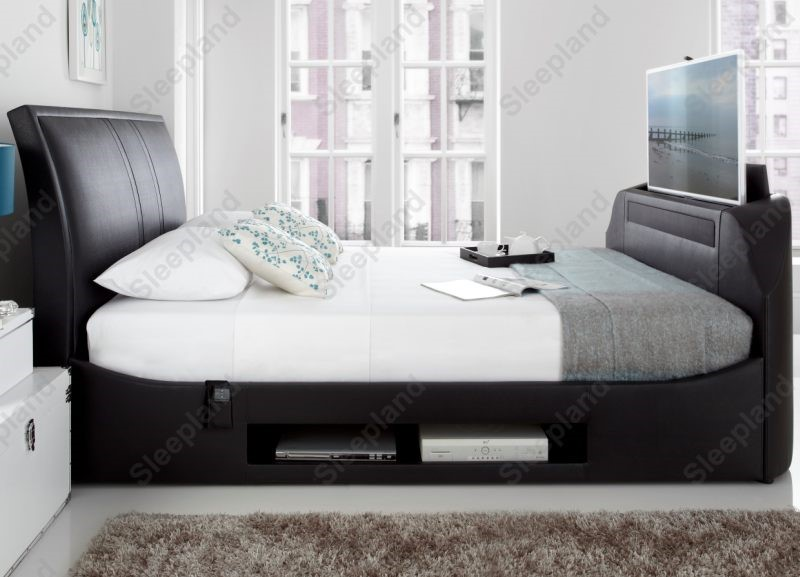 Plain Beds With Tv Built In Maximus Bed E On Inspiration Decorating