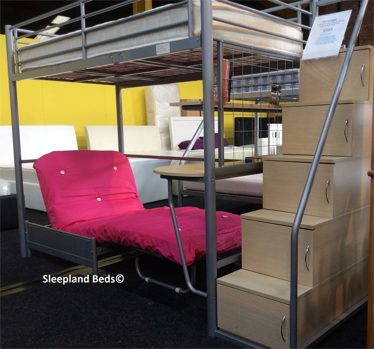 Venus Luxury High Sleeper Bunk Bed | Sleepland Beds