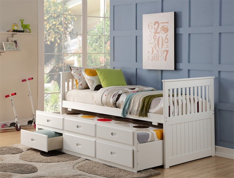 White Captain Bed Beds