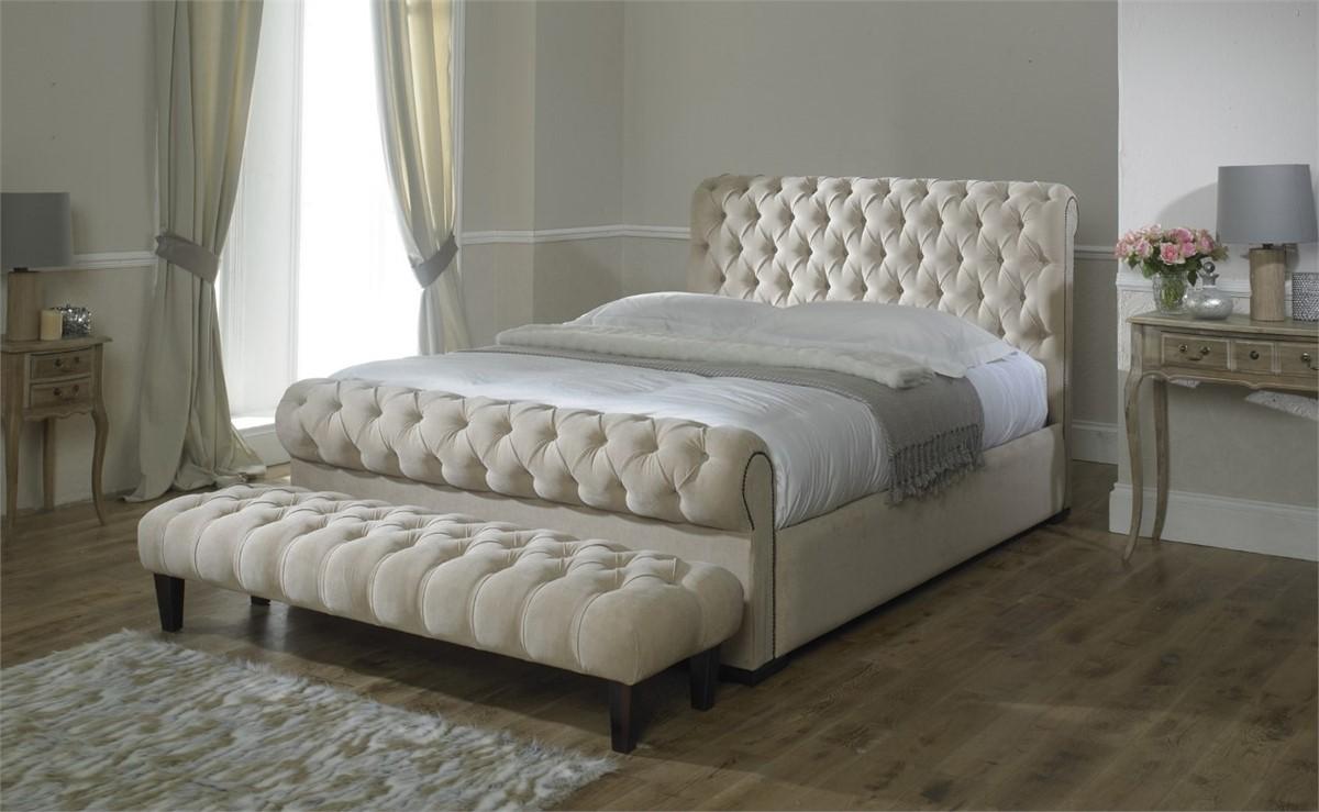 - Monza Italia Mayfair Sleigh Bed3ft Single