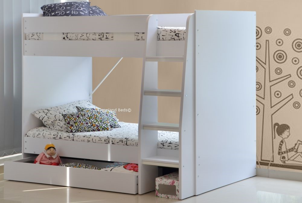 Cameo Royal White Bunk Beds