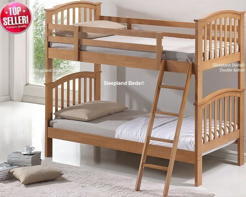 Cosmos Maple Bunk Beds Solid Wood Bunks By Sleepland Beds