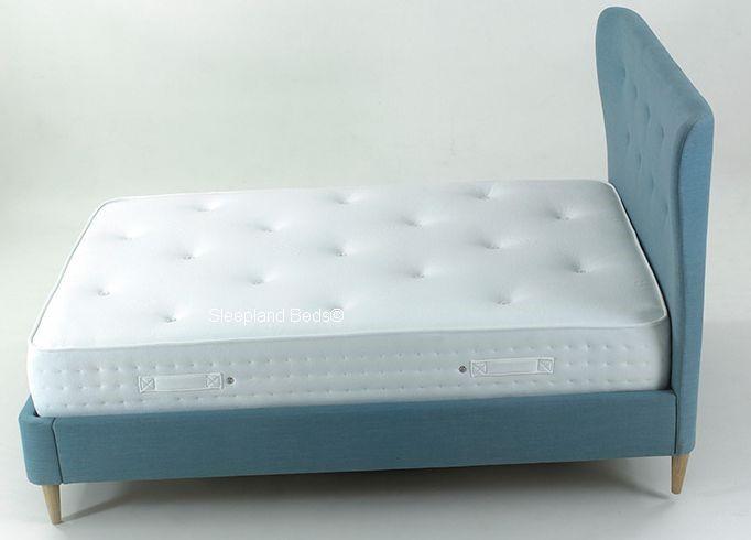 aurora kingsize bed frame aurora bed frame tall headboard - Blue Bed Frame