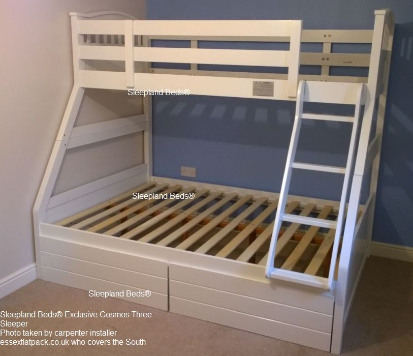 Triple Bunk Beds Single And Double Bunks Sleepland Beds