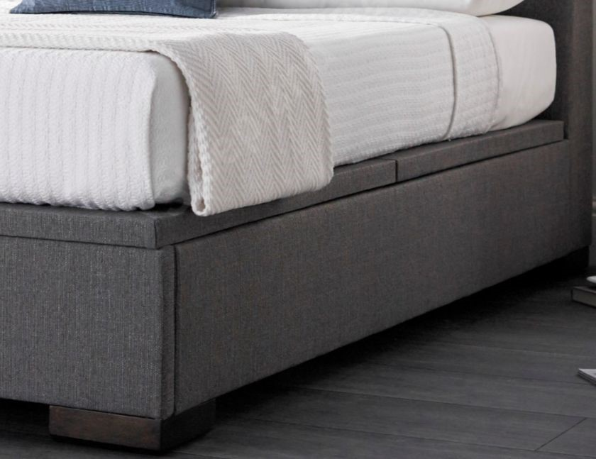 48d99726aad7 Kaydian Lanchester Ottoman Bed In Elephant Grey Fabric | Sleepland Beds