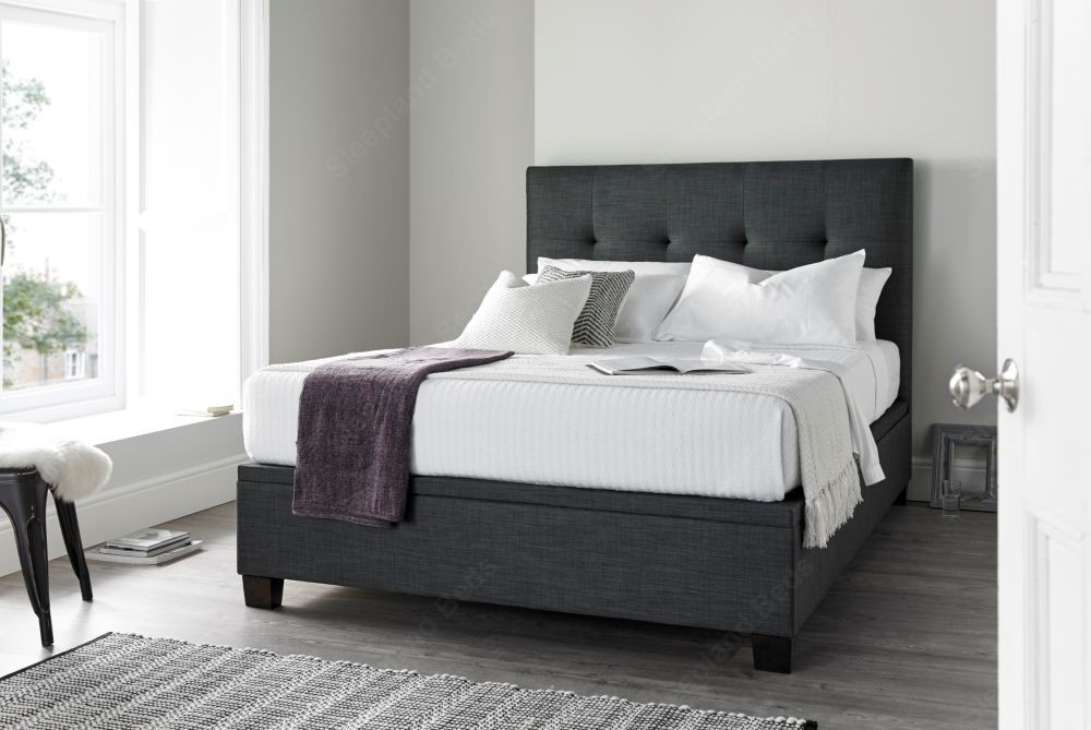 Magnificent Kaydian Walkworth Slate Fabric Ottoman Bed Sleepland Beds Gmtry Best Dining Table And Chair Ideas Images Gmtryco