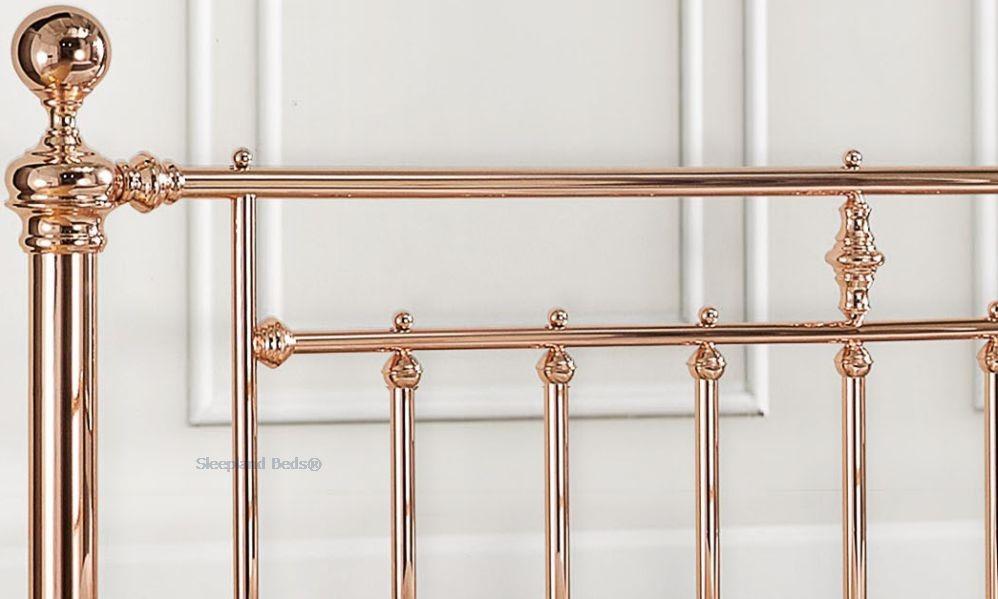 Alexander Rose Bed By Time Living - Rose Gold Metal Frame - 5ft Kingsize