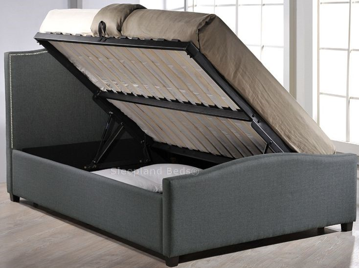 Amazing Inspire Brunswick Grey Fabric Side Opening Ottoman Storage Ibusinesslaw Wood Chair Design Ideas Ibusinesslaworg