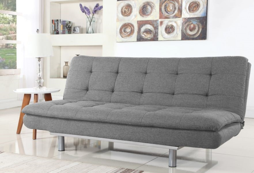 Sweden Grey Fabric 3 Seater Double Sofa Bed By Sweet Dreams