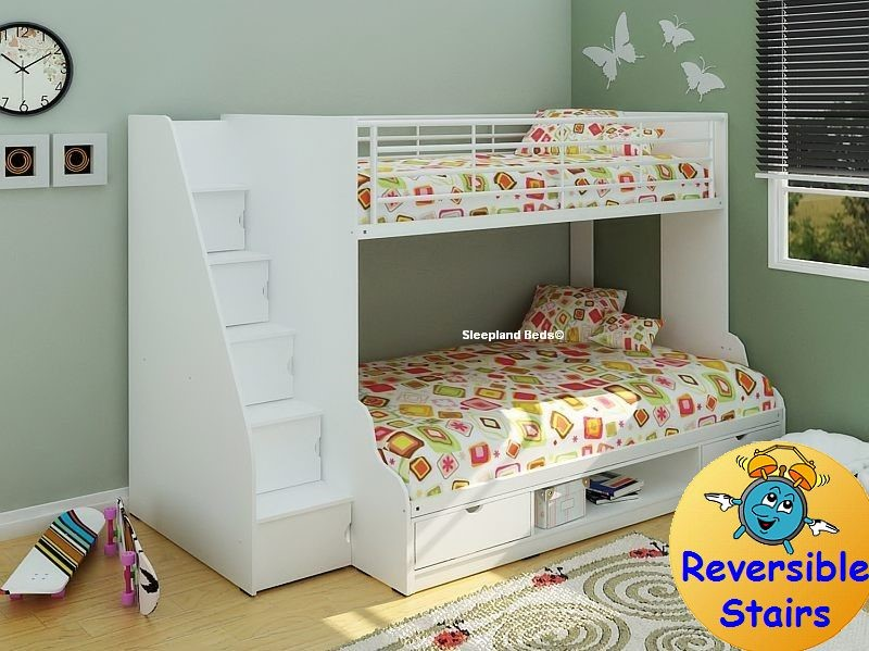 White Trio Triple Bunk Beds Sleepland Beds