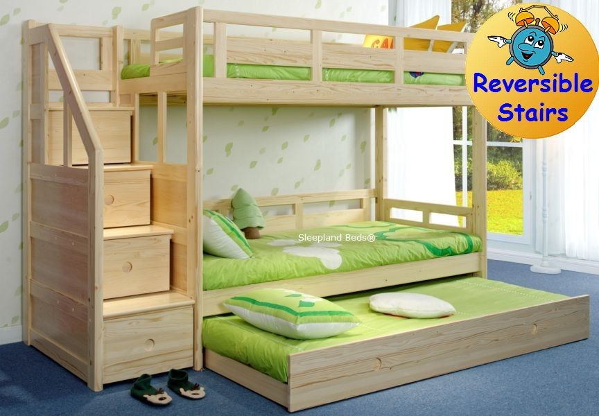 luxury carved solid pine wood traditional wooden bunk beds with