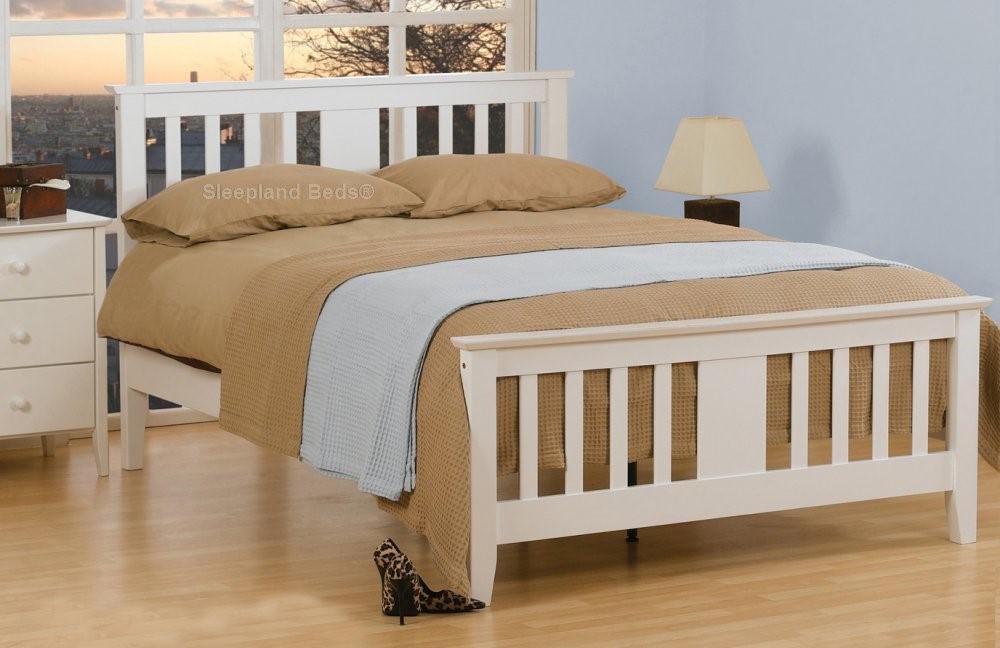 Sweet Dreams Beds Kestrel Bedframe Kingsize White Wooden Bed