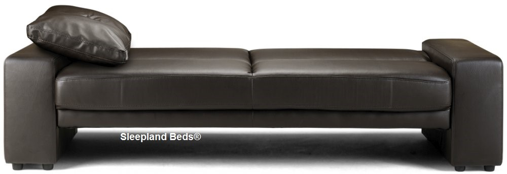 Capria Sofa Bed - Brown Or Black Faux Leather - Sleepland Beds