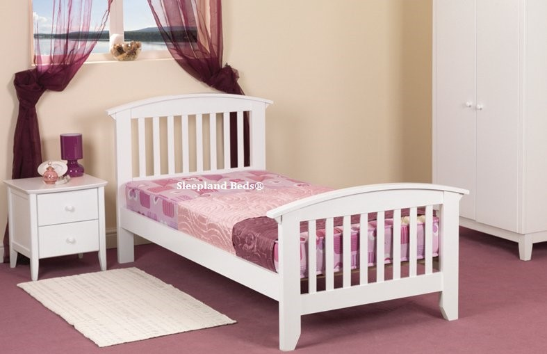 a7fde8f7b12c Sweet Dreams Kipling Bed Frame White childrens wooden bed frames Sweet  Dreams Ruby Bed
