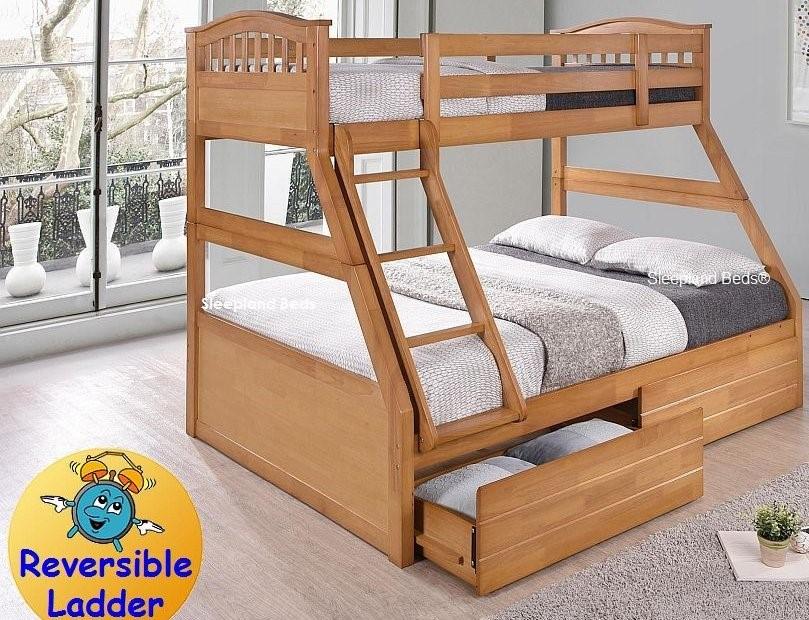 Triple Bunk Beds Single And Double Bunks Sleepland Beds