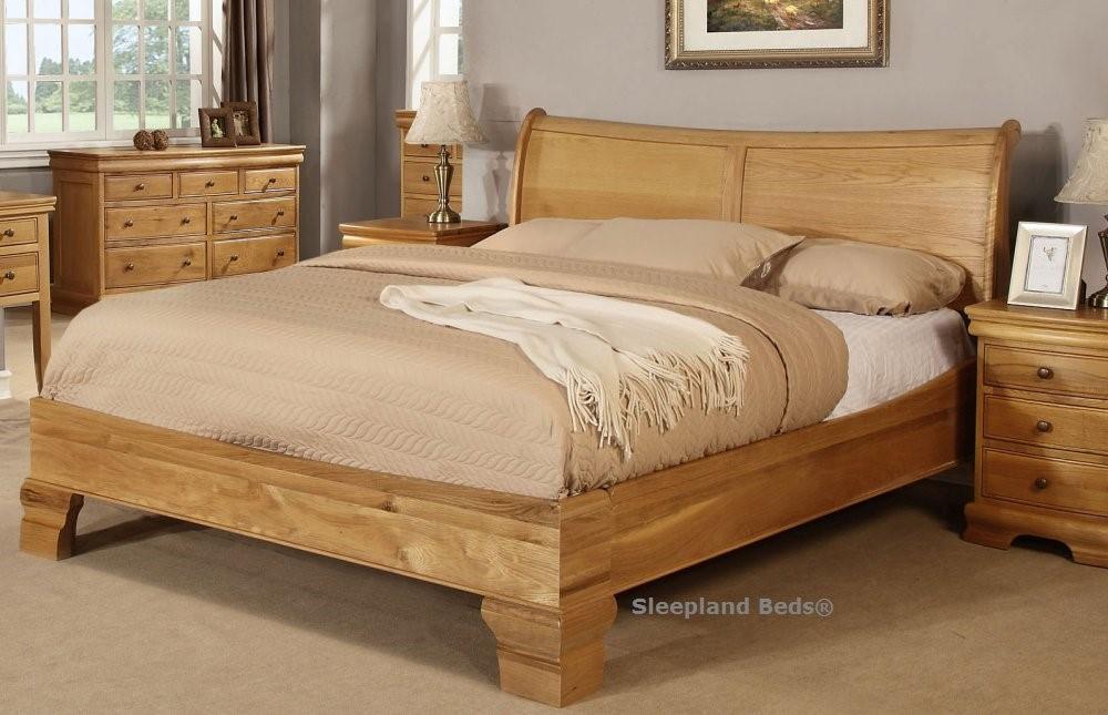 Grayson Solid Oak Wooden Bed Frame By Sweet Dreams 6ft Super Kingsize