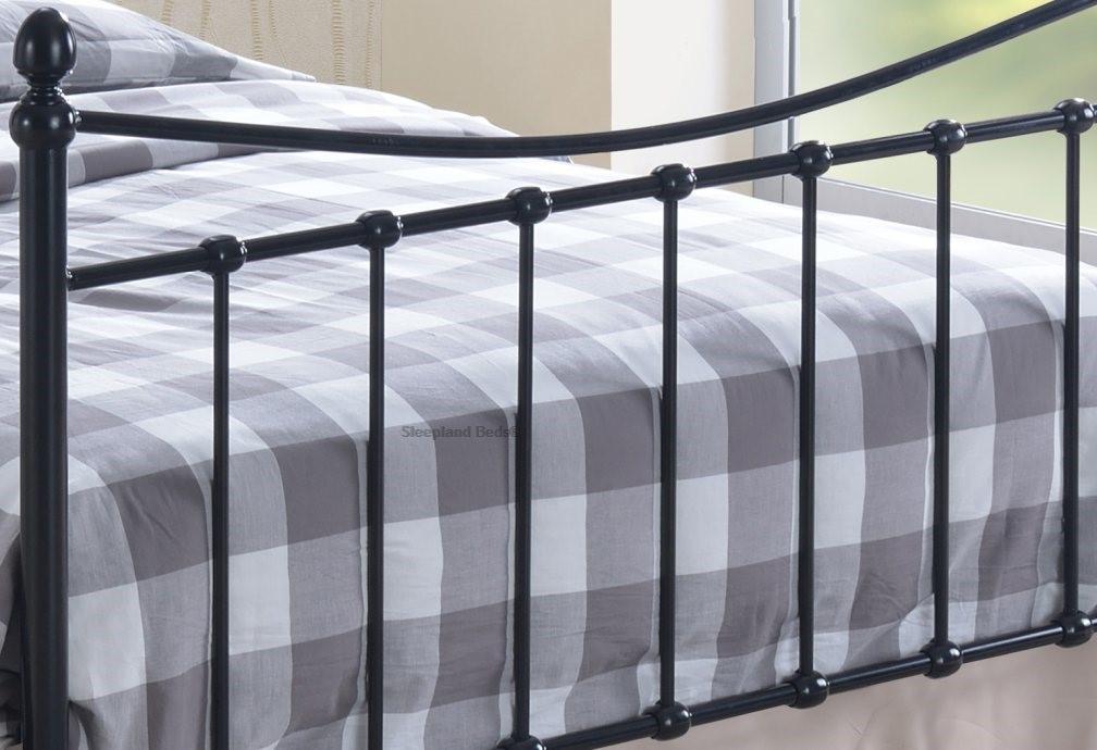 2eadfe6657dc Inspire Alderley Black Gloss Metal Bed Frame - 4ft Small Double