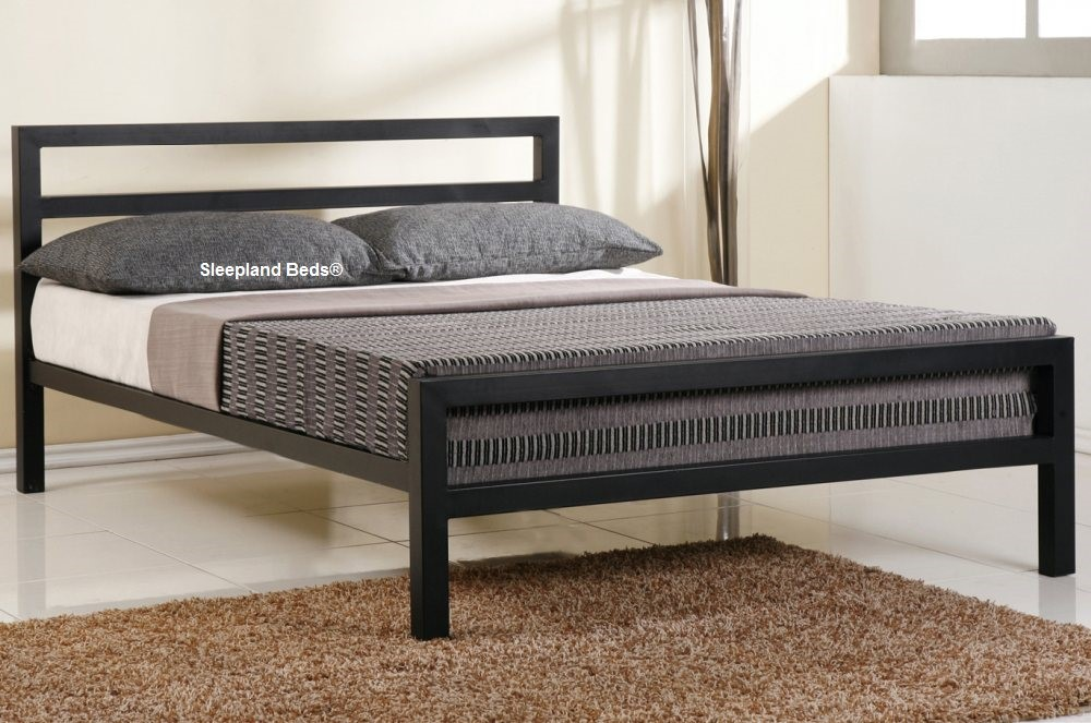 54728710034a Black City Block Bed Frame City Block Double Black Bed Frame Strong Metal  Bed Frames Time Living Beds Frames. Our Inspire City Block is a modern  charcoal ...