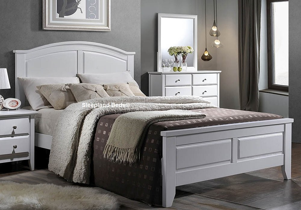 parma grey wood small double bed frame  sleepland beds