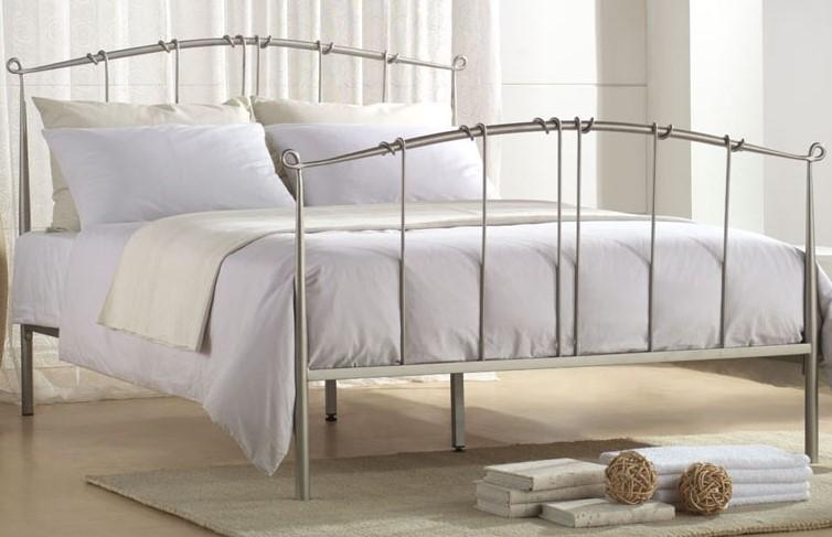 joseph maple metal bed frame joseph - Silver Metal Bed Frame