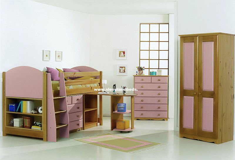 pink midsleeper cabin bed