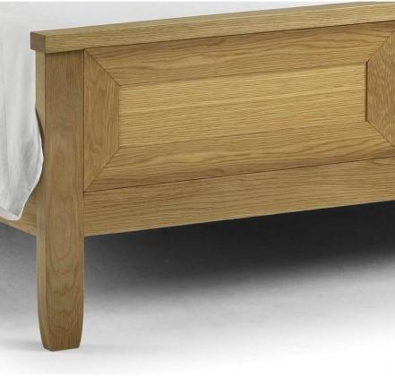 White Oak Wooden Bed Julian Bowen Lyndhurst Bedstead 5ft Kingsize