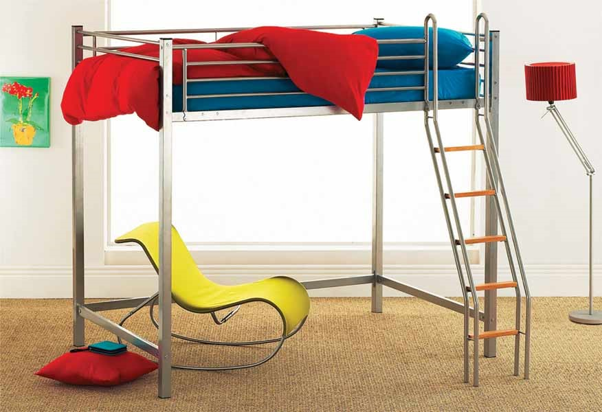 Hyder 4ft High Loft Bunk 4ft Small Double Highsleeper Bed