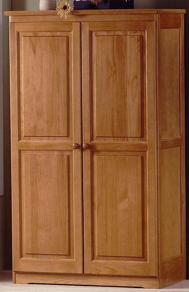 Honey Pine Bedside Honey Pine 2 Door Wardrobe