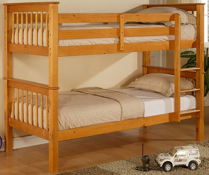 Limelight Pavo Pine Bunk Bed 3ft Single Solid Pine Bunk Beds