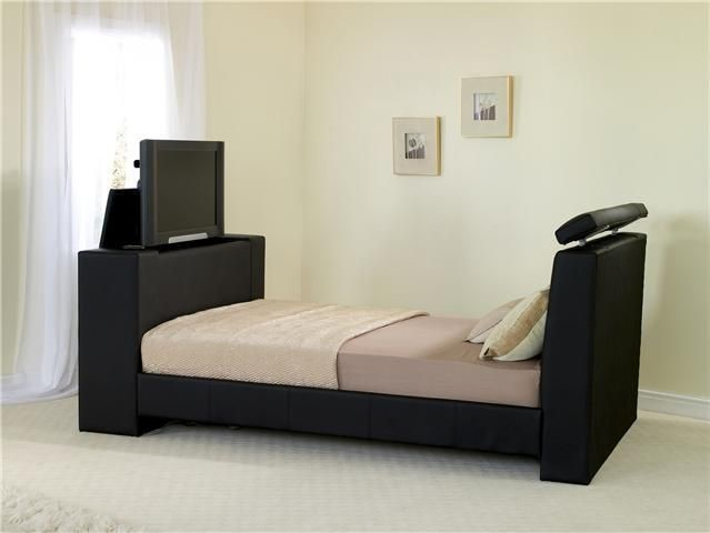 Double Bed With Television | Faux Leather TV Beds