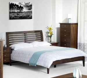 Santiago Dark Wenge Wooden Bed Frame 5ft Kingsize