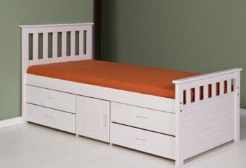 White Kingsize Storage Bed